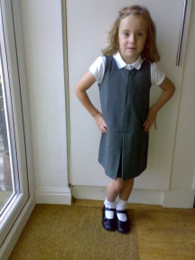 Lily's first day at school