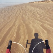 Trying out the 'cross bike on the sand