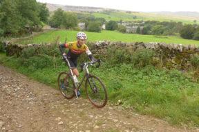 Grabbing the spare bike / Pic: Phil Haygarth